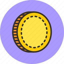 cash, coin, currency, finance, gold, money icon