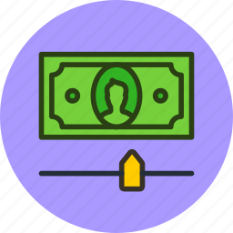 cash, finance, limit, money, options, settings icon