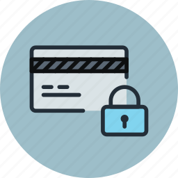 card, credit, debet, finance, locked, money, secure, security icon