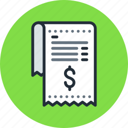 bill, finance, invoice, money, pay, payment, receipt icon