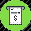bill, invoice, payment, receipt