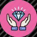 diamond, hands, luxury, safe, wealth