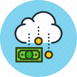 budget, business, cash, cloud, finance, funding, income, money icon