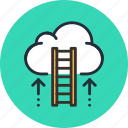 business, career, cloud, growth, ladder, rise