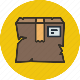 box, broken, delivery, fail, package, parcel, smashed icon