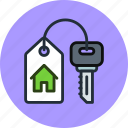 buy, house, rent, key, home, real estate
