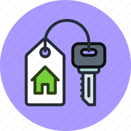 buy, estate, home, house, key, real, rent icon