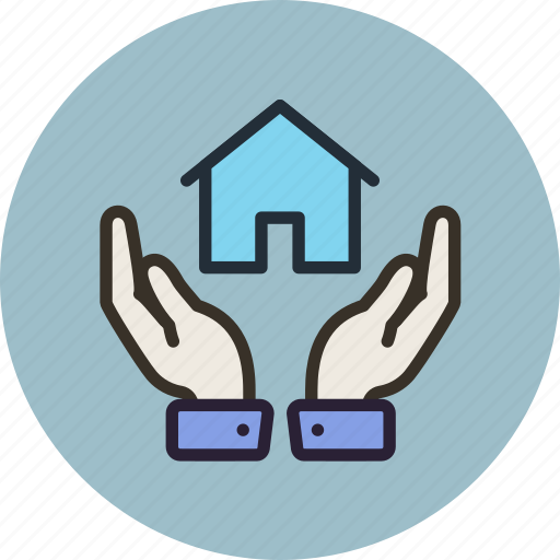hands, home, house, insurance, keep, safe, secure icon
