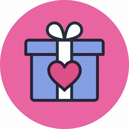 Gift, heart, love, present icon - Download on Iconfinder