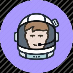astronaut, cosmonaut, exploration, helmet, human, space, suit icon