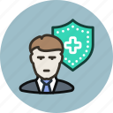 employee, insurance, insure, life, protection, secure, security icon