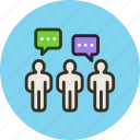 chat, comments, comunity, crowd, dialog, people, talk, team icon