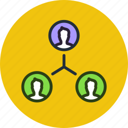 affiliate, connections, friends, marketing, network, social, team, work icon