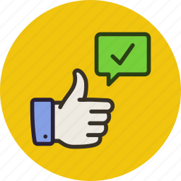 appreciation, awesome, check, done, like, ok, success, thumbs up icon