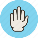 blocking, gesture, hand, high five, palm, sign, stop icon