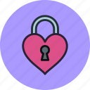 key, lock, love, private, protected, secret icon