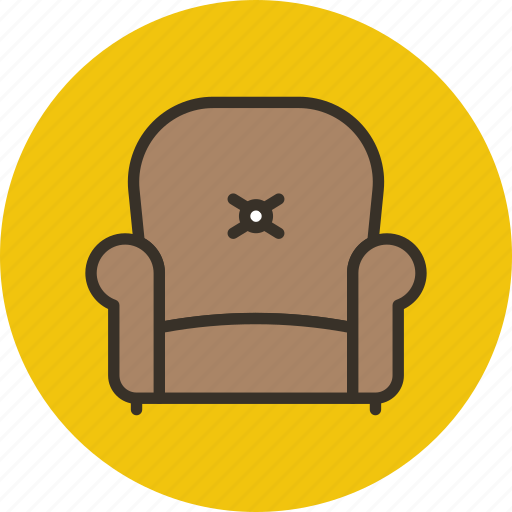 armchair, chair, furniture, interior, lounge icon