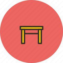 furniture, interior, stool, tabouret icon