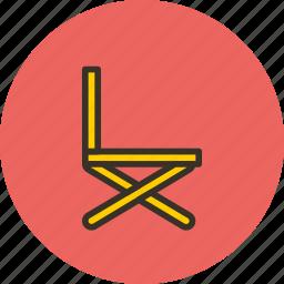 chair, director, folding, furniture, interior icon