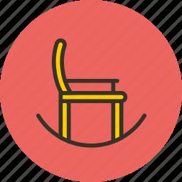 chair, furniture, interior, rocking icon