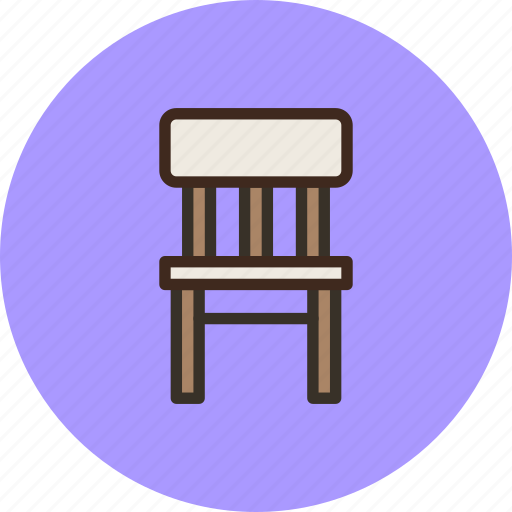 chair, furniture, interior, wood icon