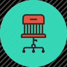 armchair, chair, furniture, interior, office, wheels icon