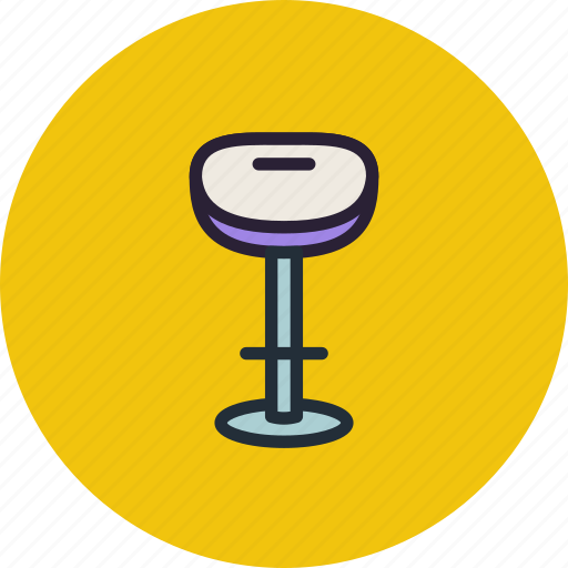bar, furniture, interior, stool icon