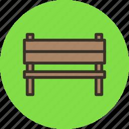 bench, furniture, garden, interior, park icon