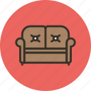 couch, furniture, interior, lounge, sofa icon