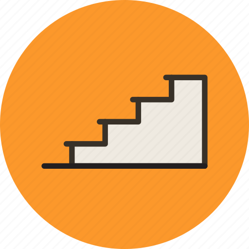 floor, interior, level, stage, stairs icon