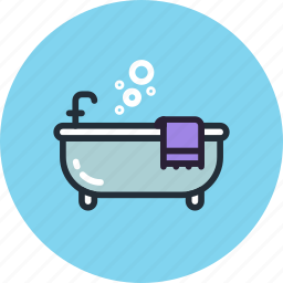 bath, bathtub, furniture, interior, lounge, relax icon