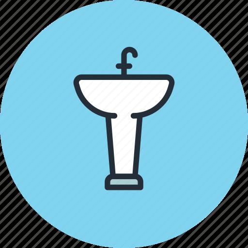 bathroom, furniture, interior, sink, wash, water icon