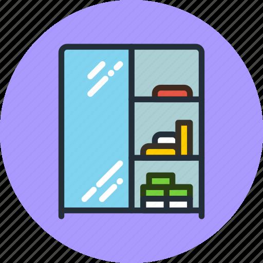 bathroom, furniture, interior, mirror, wardrobe icon