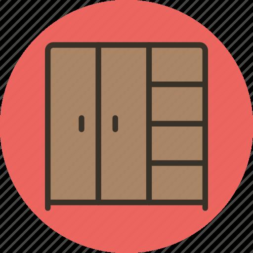 cupboard, furniture, interior, pax, wardrobe icon