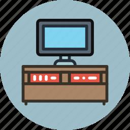cabinet, cupboard, furniture, interior, stand, tv icon