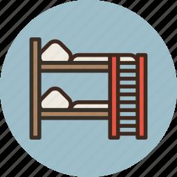 bed, bunk, furniture, interior, sleep icon