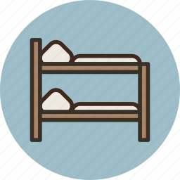 bed, bunk, furniture, interior, sleep icon