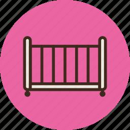 bed, child, cot, crib, furniture, interior, sleep icon