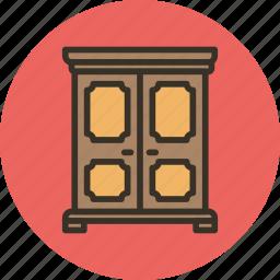 clothes, furniture, household, interior, storage, vintage, wardrobe icon