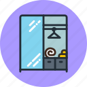 clothes, furniture, household, interior, storage, wardrobe icon