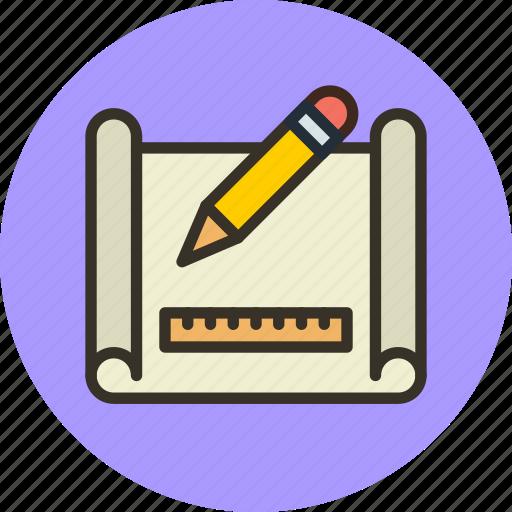 Drafting, drawing, plan, scheme icon - Download on Iconfinder