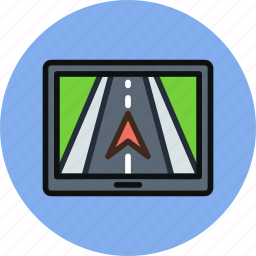 direction, gps, map, navigate, navigator, road, tracker, trip icon