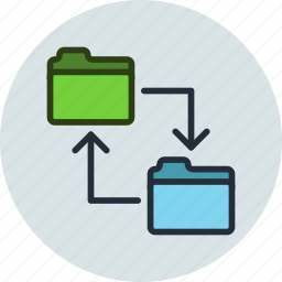 backup, change, copy, data, folder, swap, sync, transfer icon