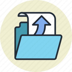 document, file, folder, get, open, receive icon