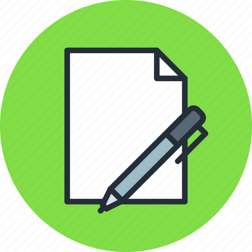 document, edit, file, new, oen, text, write icon