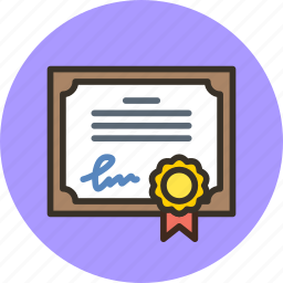 certificate, certification, certify, degree, diploma, guarantee, license, satisfaction icon
