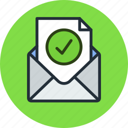 check, email, envelope, final, mail, message, ok, verification icon