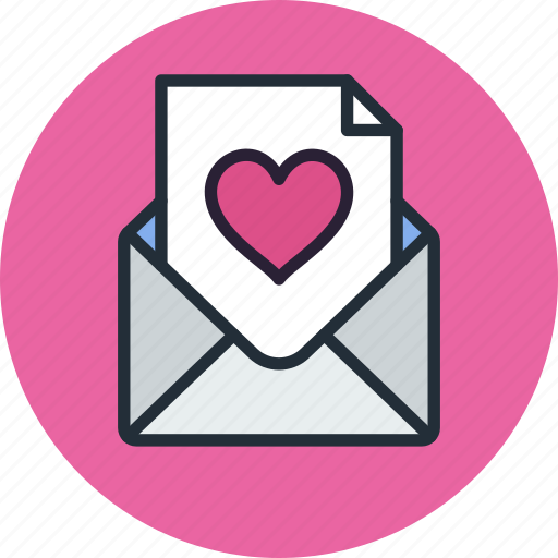 email, envelope, heart, letter, love, mail, message, valentine icon