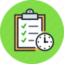 board, buffer, clip, clipboard, deadline, schedule, time, todo icon