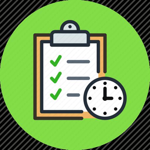 board, buffer, clip, clipboard, deadline, schedule, time, todo icon